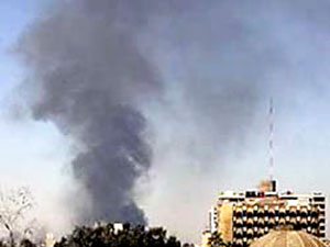 Bağdat'a  yeşil bölgeye 4 havan mermisi atıldı
