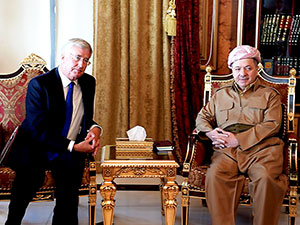Mesud Barzani, İngiltere Savunma Bakanı Fallon'u kabul etti