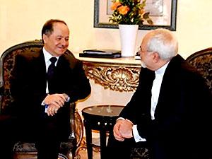 Barzani, İran Dışişleri Bakanı ile görüştü