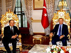 Barzani-Erdoğan görüşmesi sona erdi