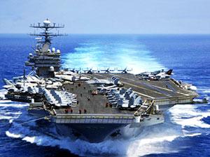 ABD uçak gemisi rotayı Kore'ye çevirdi