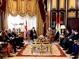 Barzani, İngiliz dışişleri heyetini kabul etti