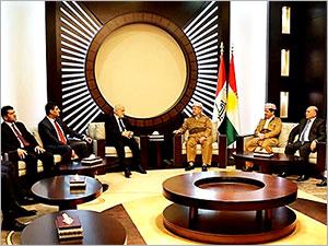 Mesud Barzani Irak Dışişleri Bakanı ile görüştü