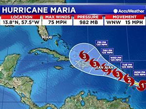 Irma gitti, Maria geliyor