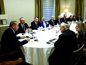 Erdoğan, Yahudi kuruluş temsilcileriyle buluştu