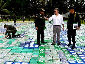 Kolombiya'da rekor uyuşturucu baskını