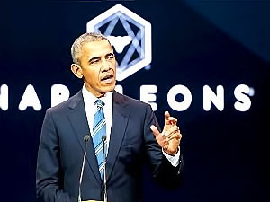 Eski ABD Başkanı Obama Paris'te