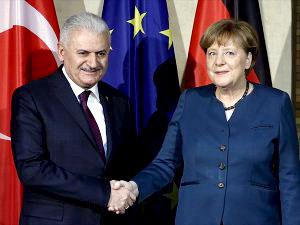 Yıldırım ile Merkel bir araya gelecek