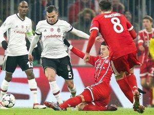 Beşiktaş Bayern Münih'e farklı yenildi