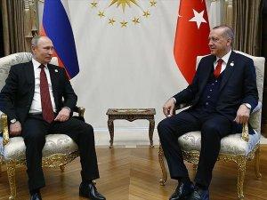 Erdoğan ile Putin baş başa görüştü