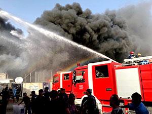 Bağdat'ta seçim sandıklarının bulunduğu depoda yangın