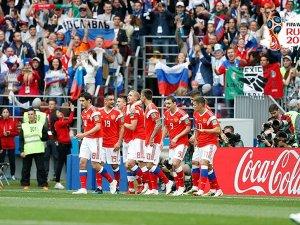 Dünya Kupası Rusya'nun galibiyetle başladı: 5-0