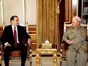 Mesud Barzani, McGurk ve Silliman'ı kabul etti