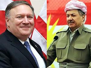 Mesud Barzani, Pompeo ile görüştü