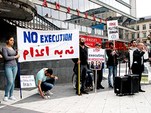 İran'daki idamlar İsveç'te protesto edildi