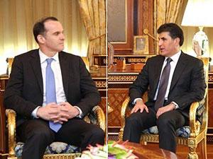 Neçirvan Barzani ile McGurk yeni hükümeti görüştü
