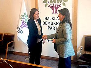 AP Raportörü Kati Piri'den HDP'ye ziyaret