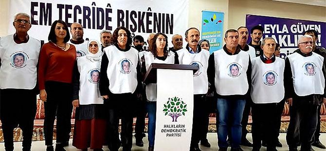 HDP'li vekiller Leyla Güven'e destek için açlık grevinde