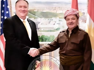 Pompeo, Mesud Barzani ile görüştü