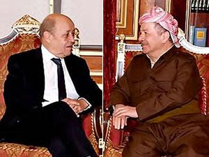 Mesud Barzani Fransız Dışişleri Bakanı'nı kabul etti