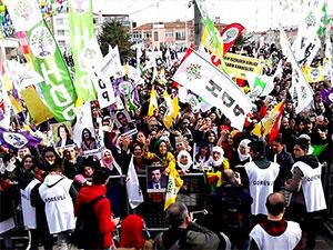 HDP'den Bakırköy'de 'emek, barış, adalet' mitingi