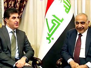 Neçirvan Barzani ile Adil Abdulmehdi bir araya geldi