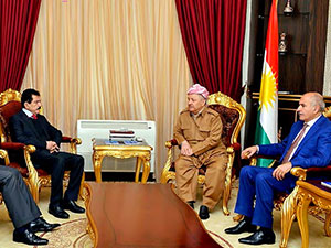 YNK heyeti, Mesud Barzani ile görüştü