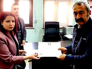 TKP'li Fatih Maçoğlu mazbatasını aldı