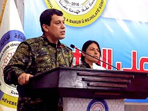 DSG Genel Komutanı Peşmerge'ye teşekkür etti