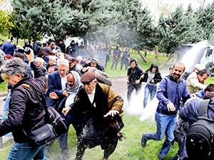 HDP'lilerin açıklamasına polis müdahalesi