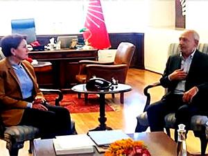 Akşener'den Kılıçdaroğlu'na 'geçmiş olsun' ziyareti