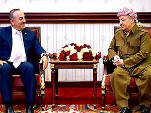 Mesud Barzani, Mevlüt Çavuşoğlu'nu kabul etti