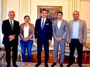 HDP'den İmamoğlu'na tebrik ziyareti