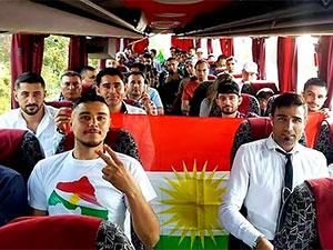 Linç edilen Kürdistanlılardan bayraklı paylaşım