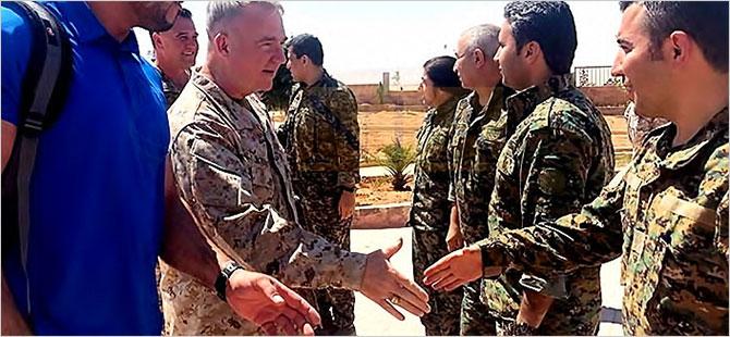 ABD Merkez Kuvvetler Komutanı Kobani'de