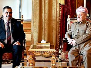 Mesud Barzani, Irak Savunma Bakanı ile görüştü