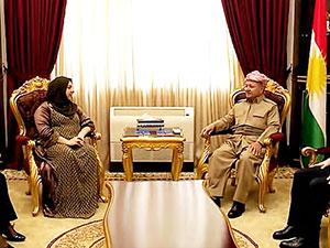 Mesud Barzani Parlamento Başkanı ile görüştü