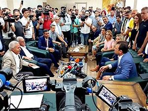 Ekrem İmamoğlu, Selçuk Mızraklı ve Ahmet Türk ile görüştü