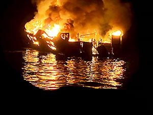 ABD'de yolcu gemisinde yangın: 34 kişi yaşamını yitirdi