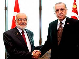 Karamollaoğlu, Cumhurbaşkanı Erdoğan ile görüştü
