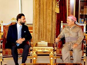 Mesud Barzani Lübnanlı parlamenter heyet ile görüştü