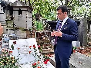 İmamoğlu, Yılmaz Güney ve Ahmet Kaya'nın mezarlarını ziyaret etti