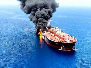 Suudi Arabistan yakınlarında İran petrol tankeri vuruldu