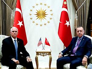 Erdoğan ile Pence görüşmesi sona erdi