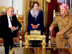 Mesud Barzani, Fransa Dışişleri Bakanı'nı kabul etti