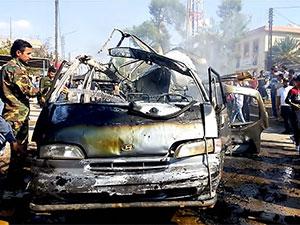 Kamişlo'da bomba yüklü araç infilak etti