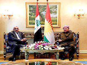 Mesud Barzani, Abdulmehdi ile görüştü