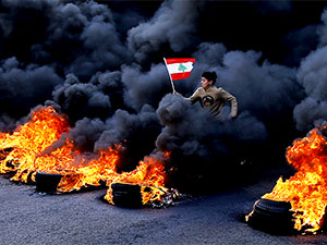 Ve Lübnan'da halk yeniden sokakta