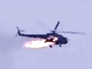 İdlib'de Suriye ordusuna ait bir helikopter düştü