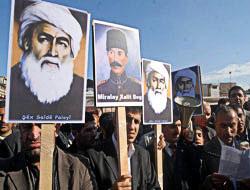 Diyarbakır'da Şeyh Sait posterleriyle protesto